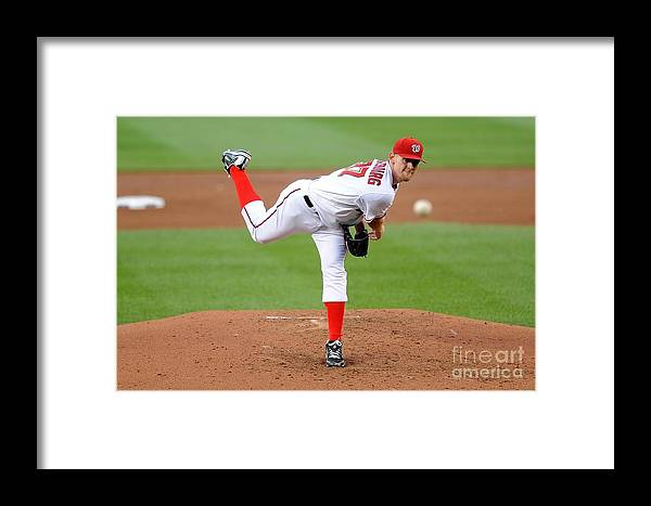 Stephen Strasburg Framed Print featuring the photograph Pittsburgh Pirates V Washington 2 by G Fiume
