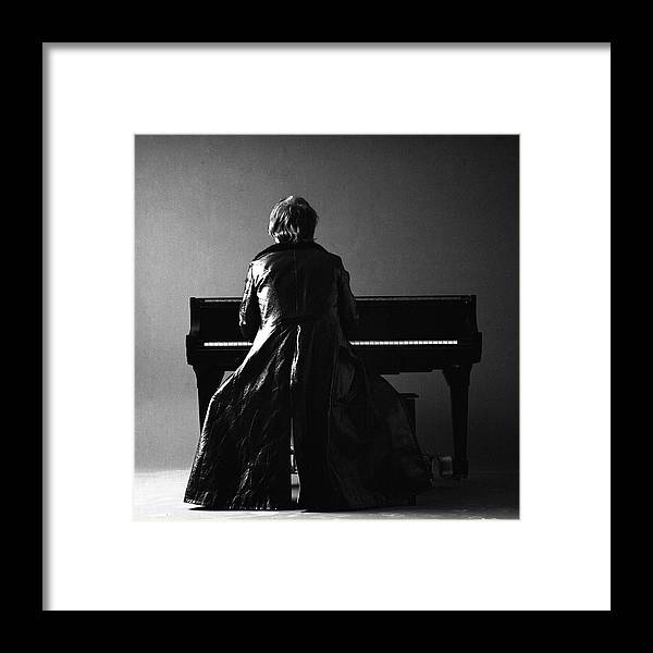 Piano Framed Print featuring the photograph Portrait Of Elton John by Jack Robinson