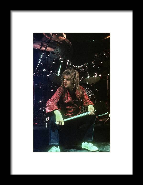 People Framed Print featuring the photograph Roger Taylor by Michael Ochs Archives