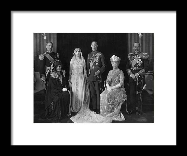People Framed Print featuring the photograph Royal Wedding by Hulton Archive