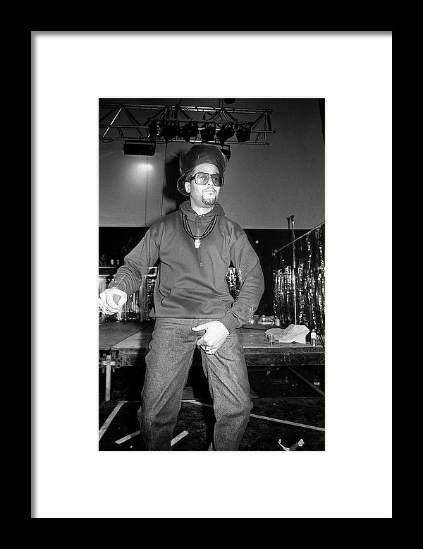 Darryl Mcdaniels Framed Print featuring the photograph Run Dmc London 1990 by Martyn Goodacre