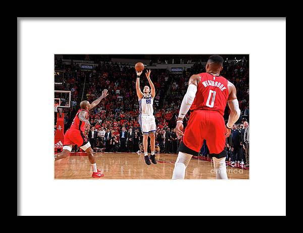 Nba Pro Basketball Framed Print featuring the photograph Sacramento Kings V Houston Rockets by Bill Baptist