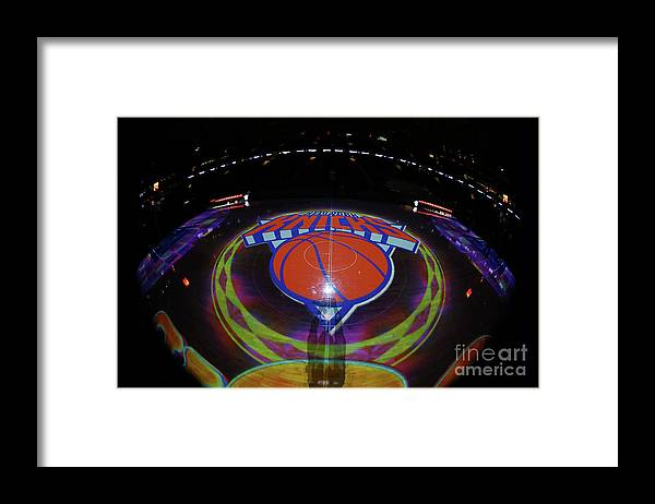 Nba Pro Basketball Framed Print featuring the photograph Sacramento Kings V New York Knicks by Nathaniel S. Butler