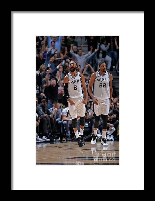 Nba Pro Basketball Framed Print featuring the photograph Sacramento Kings V San Antonio Spurs by Mark Sobhani