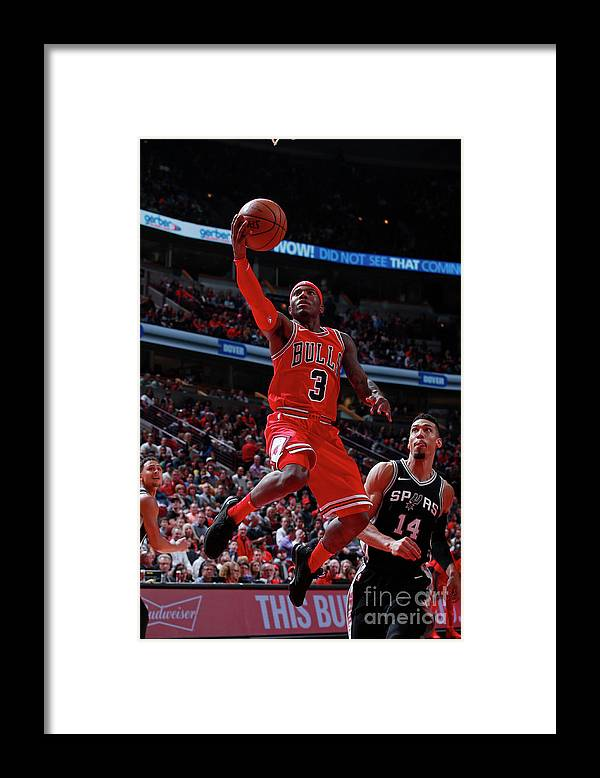 Nba Pro Basketball Framed Print featuring the photograph San Antonio Spurs V Chicago Bulls by Jeff Haynes