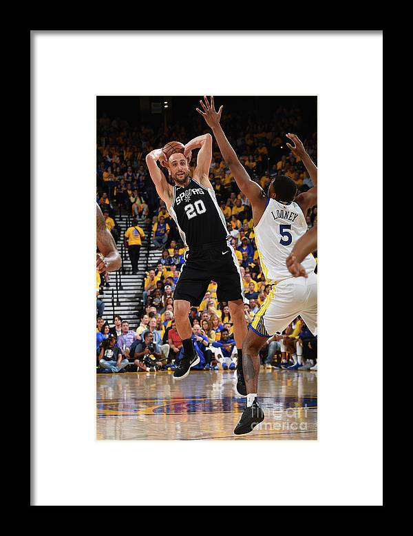 Playoffs Framed Print featuring the photograph San Antonio Spurs V Golden State by Andrew D. Bernstein