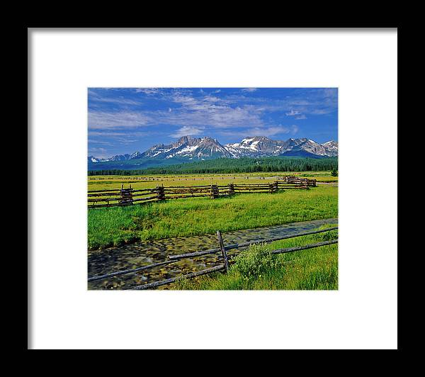 Scenics Framed Print featuring the photograph Sawtooth Mountain Range, Idaho by Ron thomas