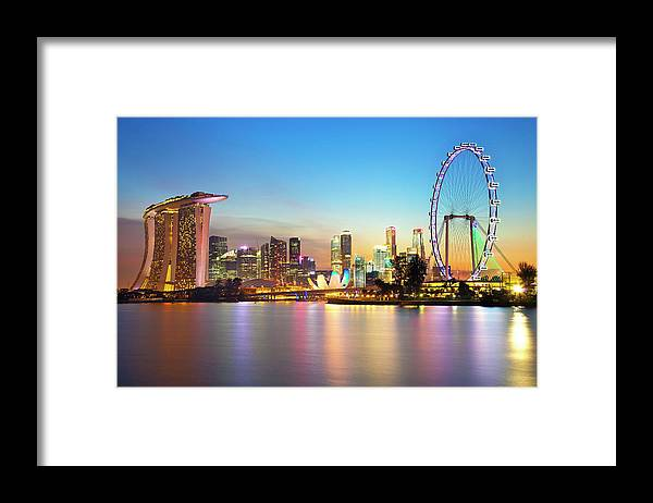 Outdoors Framed Print featuring the photograph Singapore by Seng Chye Teo
