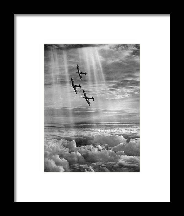 Tranquility Framed Print featuring the photograph Supermarine Spitfire by Fox Photos