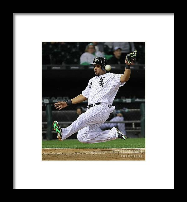 People Framed Print featuring the photograph Tampa Bay Rays V Chicago White Sox by Jonathan Daniel