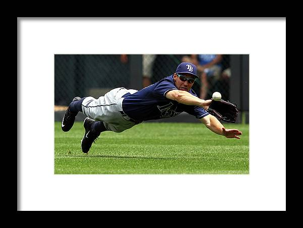 People Framed Print featuring the photograph Tampa Bay Rays V Kansas City Royals 2 by Jamie Squire
