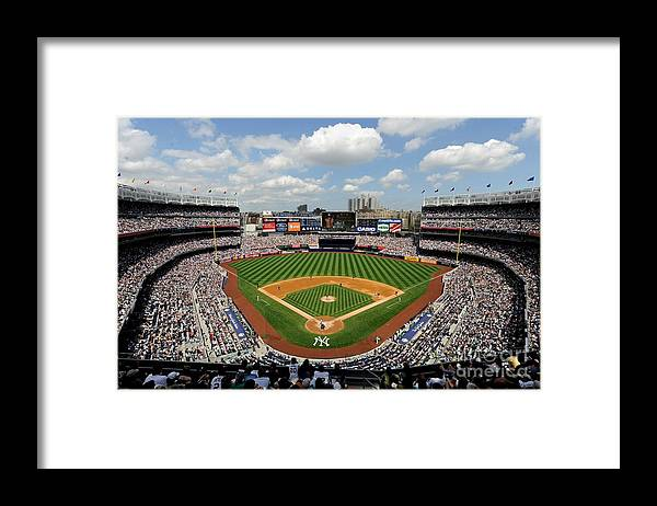 American League Baseball Framed Print featuring the photograph Tampa Bay Rays V New York Yankees by Rob Tringali/sportschrome
