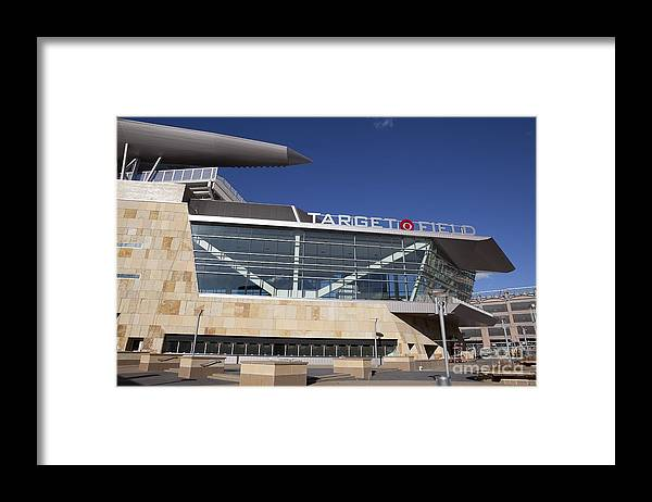 American League Baseball Framed Print featuring the photograph Target Field Previews by Wayne Kryduba
