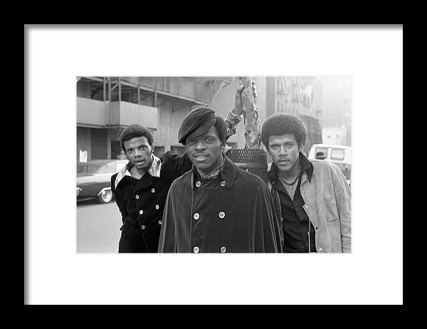 Event Framed Print featuring the photograph The Delfonics In Ny by Michael Ochs Archives