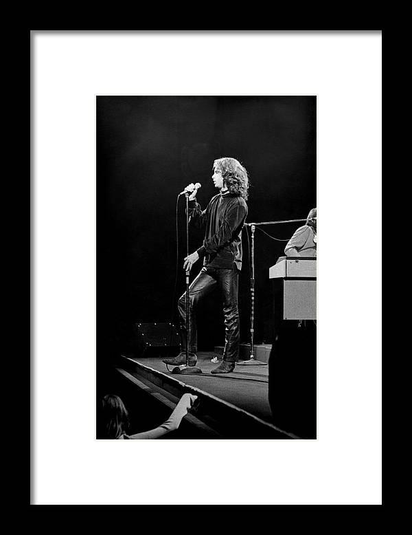 Rock Music Framed Print featuring the photograph The Doors At The Fillmore East by Fred W. McDarrah
