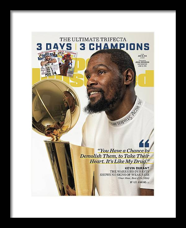 Magazine Cover Framed Print featuring the photograph The Ultimate Trifecta 3 Days, 3 Champions Sports Illustrated Cover by Sports Illustrated