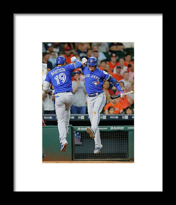 People Framed Print featuring the photograph Toronto Blue Jays V Houston Astros 2 by Bob Levey