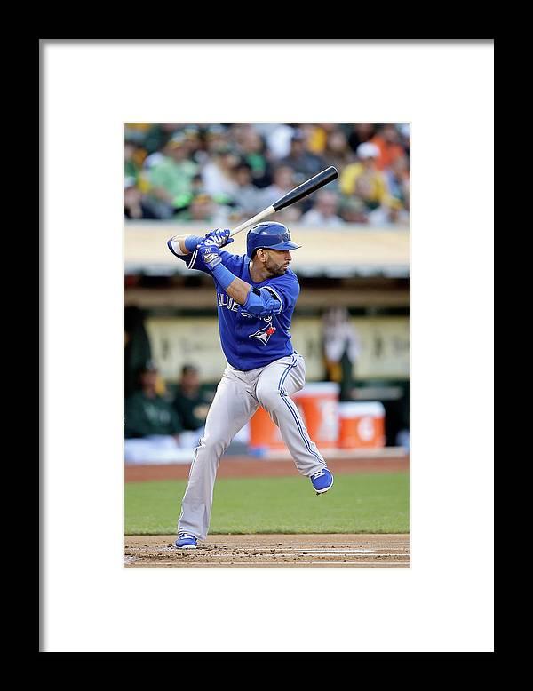 American League Baseball Framed Print featuring the photograph Toronto Blue Jays V Oakland Athletics by Ezra Shaw