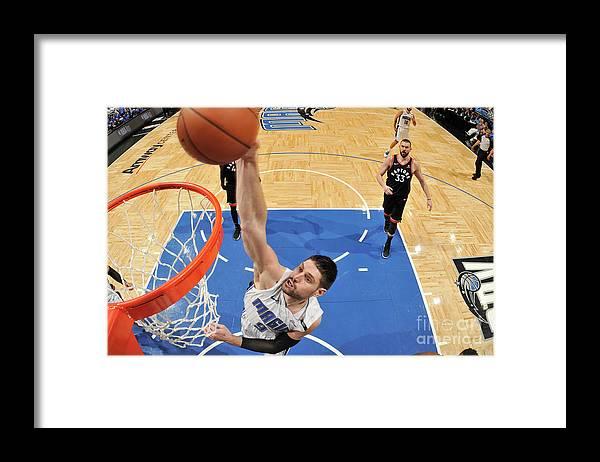 Playoffs Framed Print featuring the photograph Toronto Raptors V Orlando Magic - Game by Fernando Medina