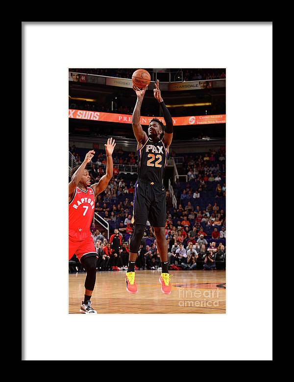 Nba Pro Basketball Framed Print featuring the photograph Toronto Raptors V Phoenix Suns by Barry Gossage