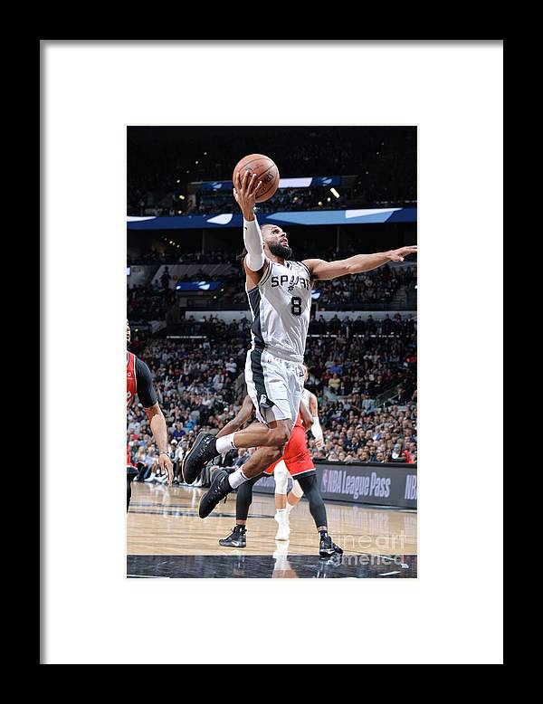 Nba Pro Basketball Framed Print featuring the photograph Toronto Raptors V San Antonio Spurs by Mark Sobhani
