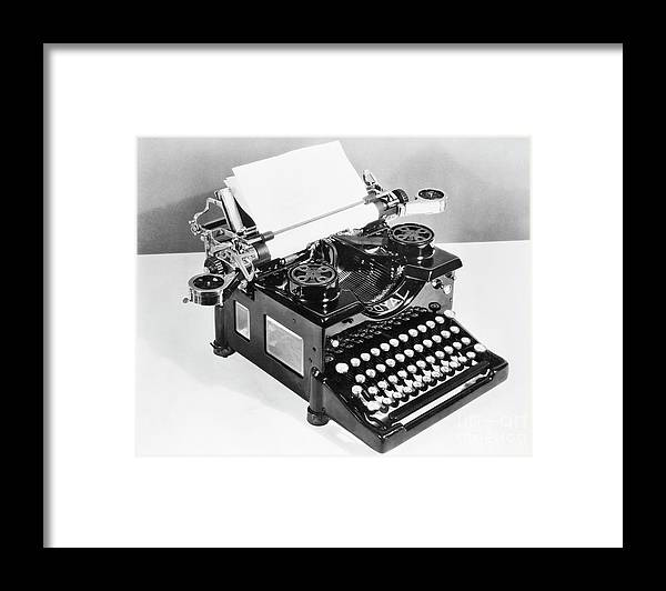 Mineral Framed Print featuring the photograph Typewriter by Bettmann