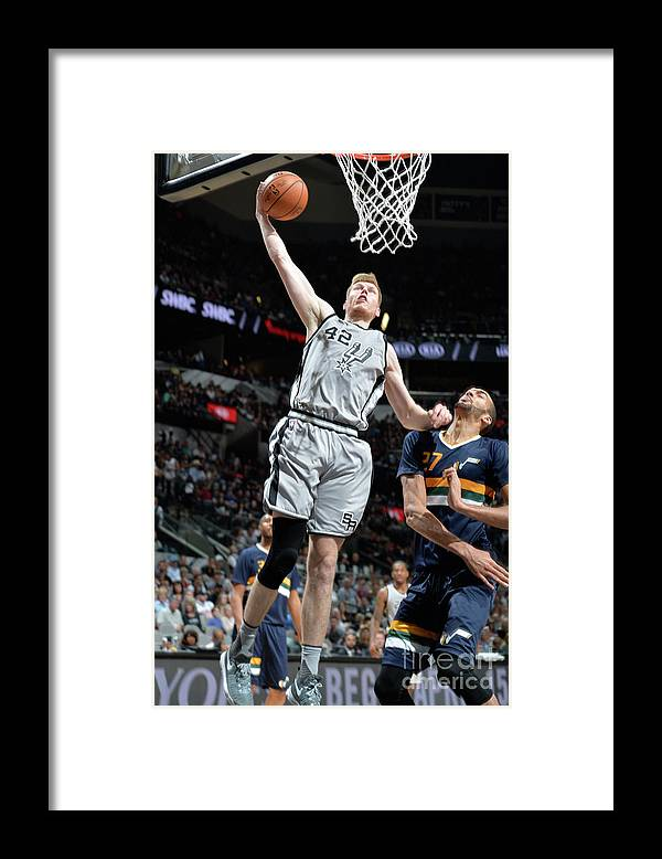 Nba Pro Basketball Framed Print featuring the photograph Utah Jazz V San Antonio Spurs by Mark Sobhani