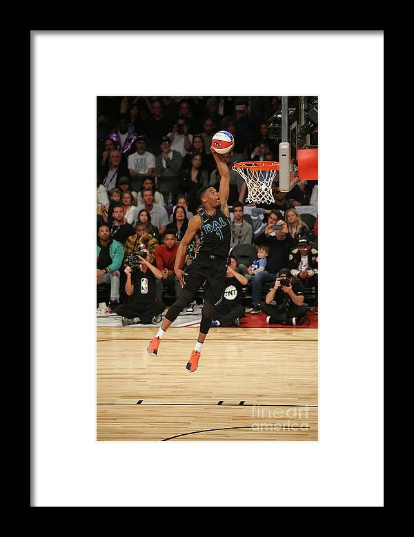 Event Framed Print featuring the photograph Verizon Slam Dunk Contest 2018 by Gary Dineen