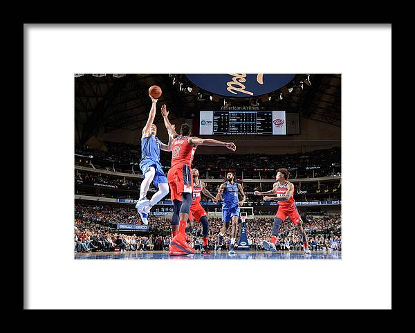 Nba Pro Basketball Framed Print featuring the photograph Washington Wizards V Dallas Mavericks by Glenn James