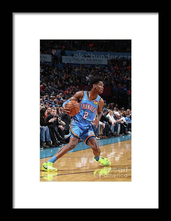 Nba Pro Basketball Framed Print featuring the photograph Washington Wizards V Oklahoma City by Zach Beeker