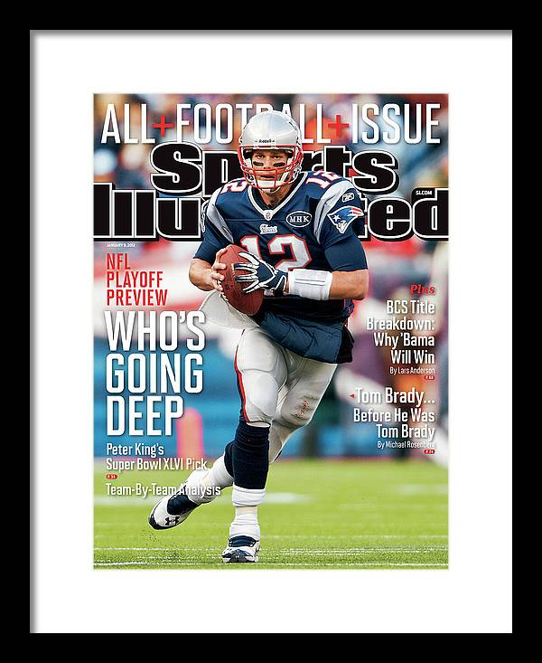 Magazine Cover Framed Print featuring the photograph Whos Going Deep 2012 Nfl Playoff Preview Issue Sports Illustrated Cover by Sports Illustrated