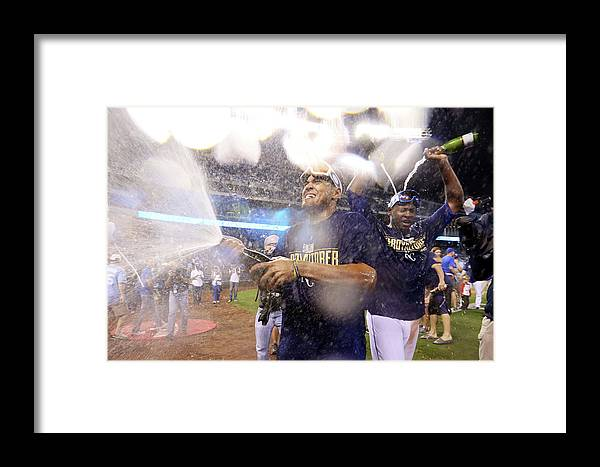 Playoffs Framed Print featuring the photograph Wild Card Game - Oakland Athletics V 2 by Ed Zurga