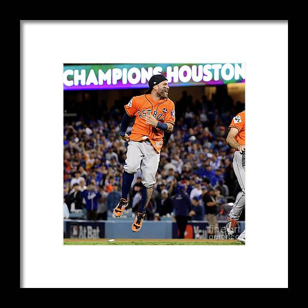 People Framed Print featuring the photograph World Series - Houston Astros V Los by Harry How