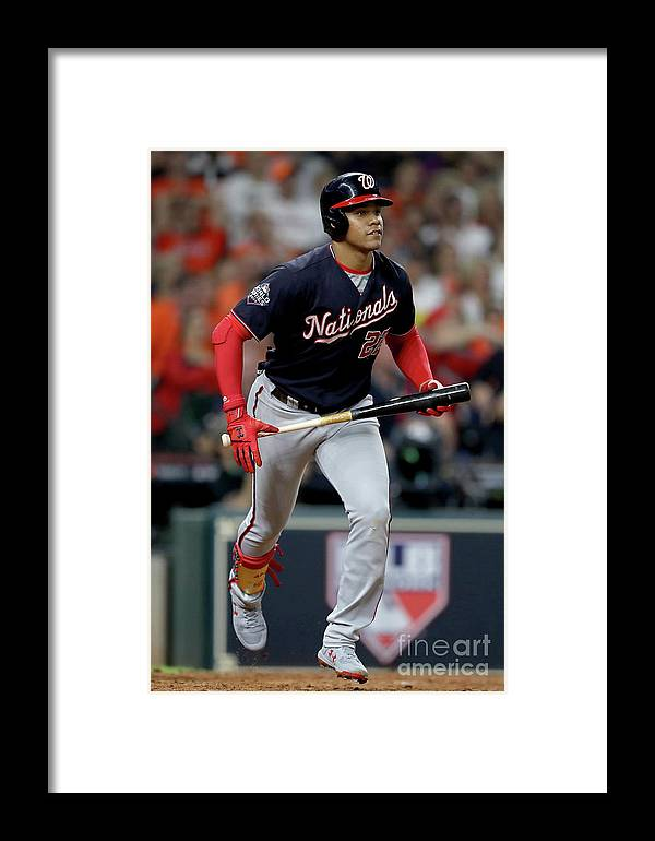American League Baseball Framed Print featuring the photograph World Series - Washington Nationals V 2 by Elsa