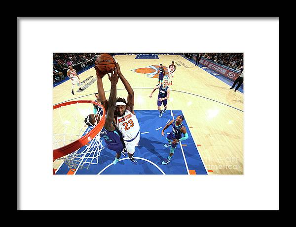 Nba Pro Basketball Framed Print featuring the photograph Charlotte Hornets V New York Knicks by Nathaniel S. Butler