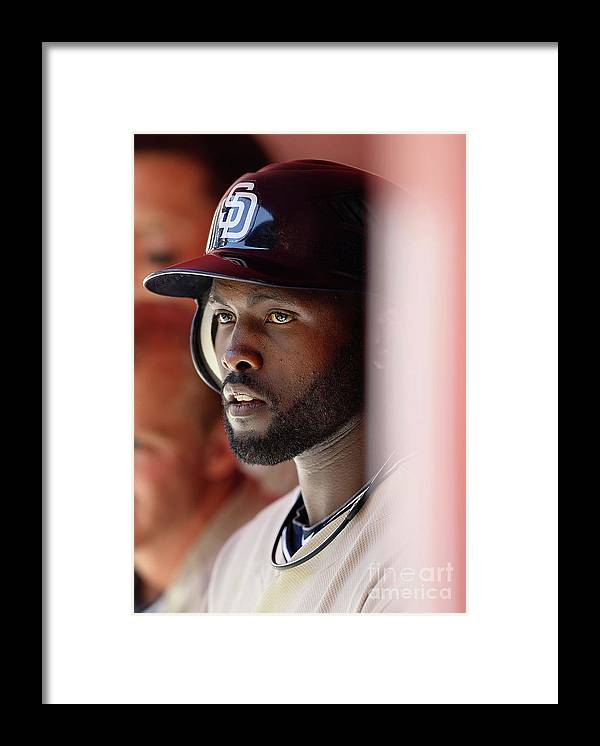 Tony Gwynn Jr. Framed Print featuring the photograph San Diego Padres V Arizona Diamondbacks by Christian Petersen