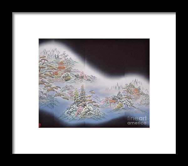 Framed Print featuring the digital art Spirit of Japan T64 by Miho Kanamori