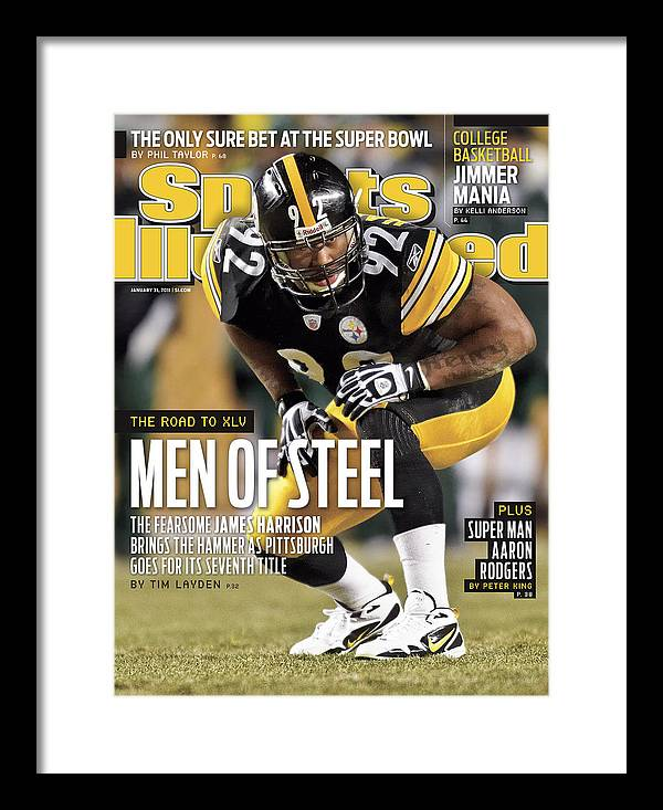 Magazine Cover Framed Print featuring the photograph 2011 Afc Championship New York Jets V Pittsburgh Steelers Sports Illustrated Cover by Sports Illustrated