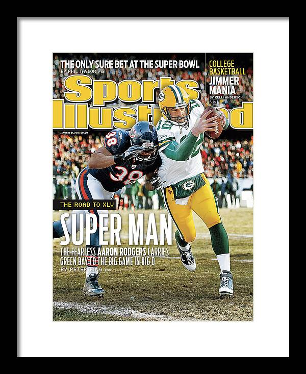 Magazine Cover Framed Print featuring the photograph 2011 Nfc Championship Green Bay Packers V Chicago Bears Sports Illustrated Cover by Sports Illustrated