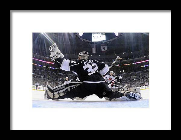 Playoffs Framed Print featuring the photograph 2012 Nhl Stanley Cup Final – Game Four by Harry How