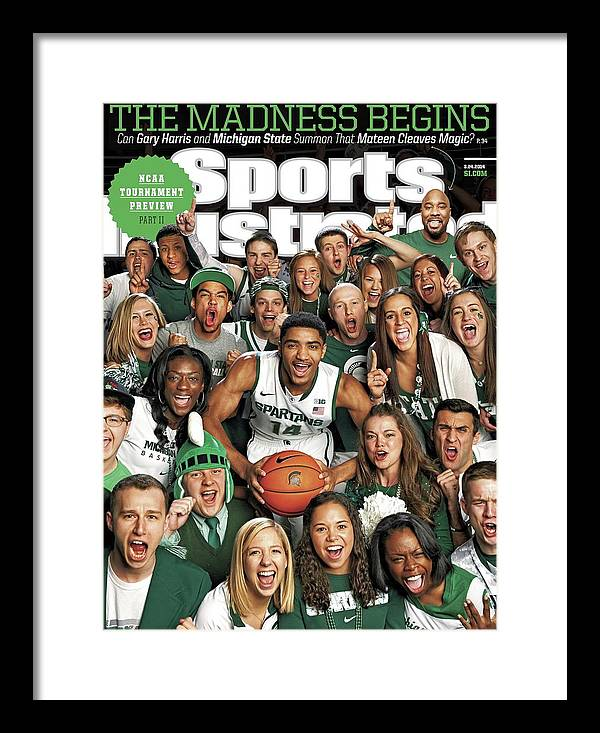 Michigan State University Framed Print featuring the photograph 2014 March Madness College Basketball Preview Part II Sports Illustrated Cover by Sports Illustrated