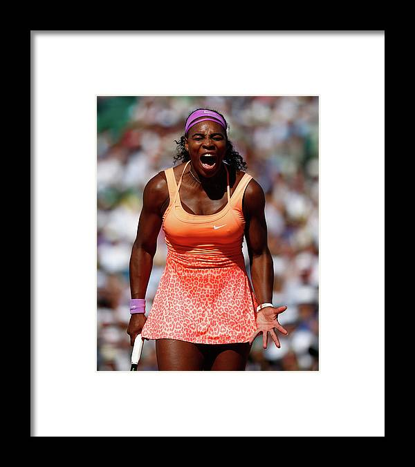 Serena Williams - Tennis Player Framed Print featuring the photograph 2015 French Open - Day Fourteen by Julian Finney