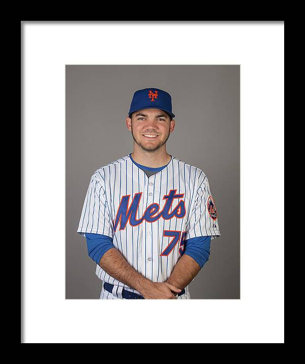 Media Day Framed Print featuring the photograph 2015 New York Mets Photo Day by C.j. Walker