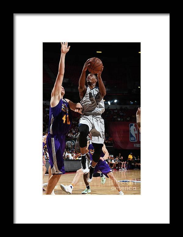 Nba Pro Basketball Framed Print featuring the photograph 2017 Las Vegas Summer League - Dallas by Garrett Ellwood