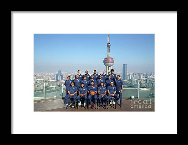 Event Framed Print featuring the photograph 2017 Nba Global Games - China by David Sherman