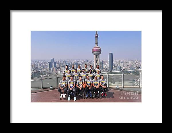 Event Framed Print featuring the photograph 2017 Nba Global Games - China by Noah Graham