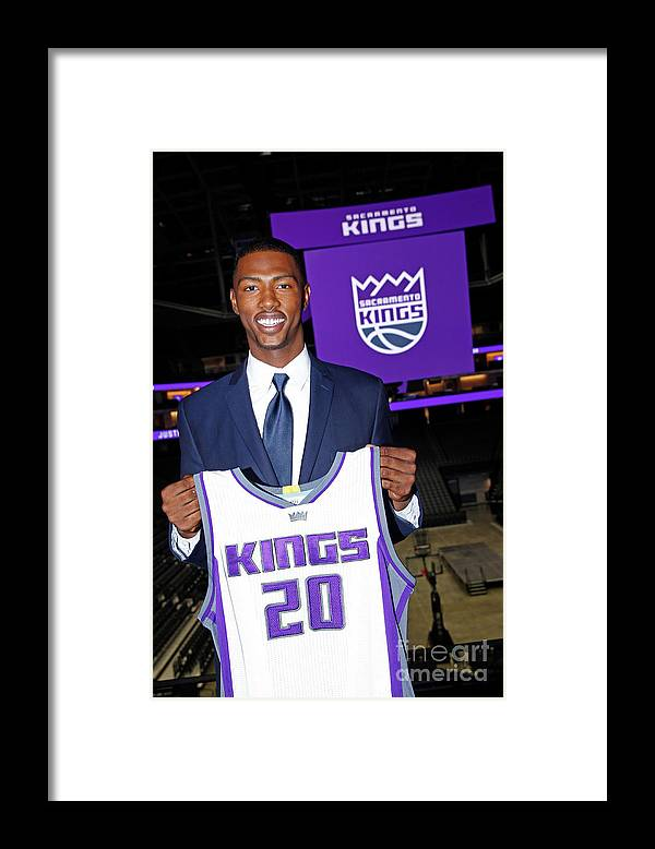 Nba Pro Basketball Framed Print featuring the photograph 2017 Sacramento Kings Draft Picks by Rocky Widner