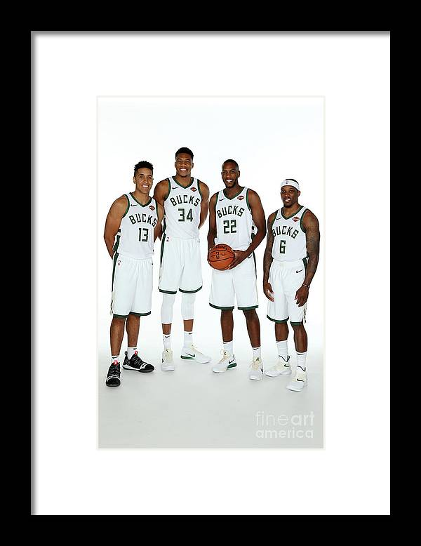 Media Day Framed Print featuring the photograph 2018 Milwaukee Bucks Media Day by Gary Dineen