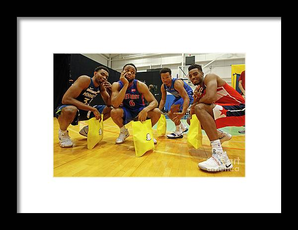 Nba Pro Basketball Framed Print featuring the photograph 2018 Nba Rookie Photo Shoot by Michelle Farsi
