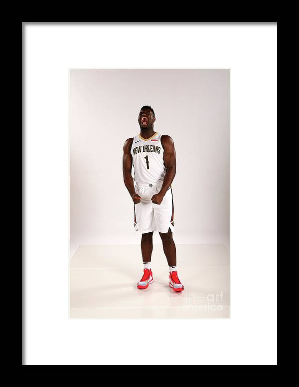 Media Day Framed Print featuring the photograph 2019-20 New Orleans Pelicans Media Day by Layne Murdoch Jr.